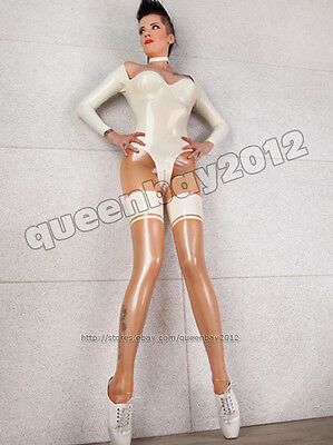 100% Latex Rubber Gummi Ganzanzug Catsuit 0.45mm Bodysuit Zentai Partei Fashion