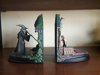 Rare lord of the rings no admittance sideshow weta bookends gandalf bilbo picclick uk - Lord of the rings bookends ...