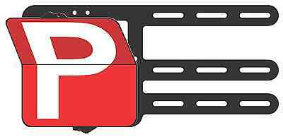 Red Provisional P Plates Victoria & WA - Clip Plate for the Learner Drivers