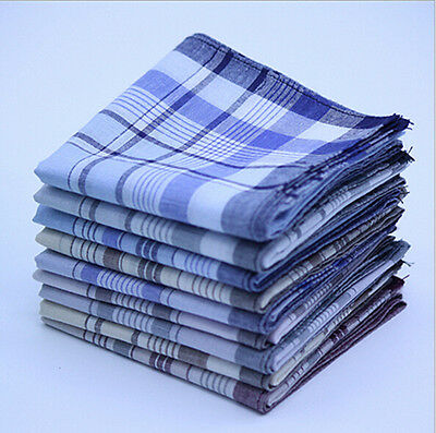 15x Mens HANDKERCHIEFS 100% Cotton Pocket Square Hanky Handkerchief 38x38cm