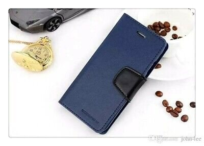 iPhone 6 6s 6 Plus 6s Plus Genuine Goospery Navy Blue Flip Case Cover FREE Post