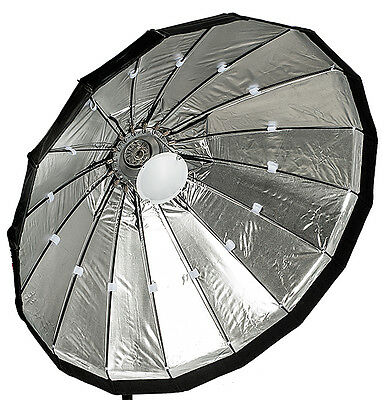 120cm Folding beauty dish, silver, Lencarta/Bowens fitting