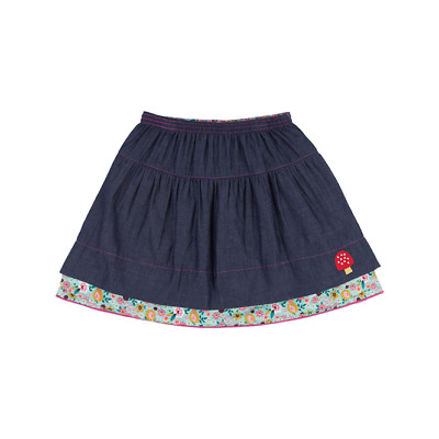 Lilly & Sid Girls Skirt Reversible Daisy