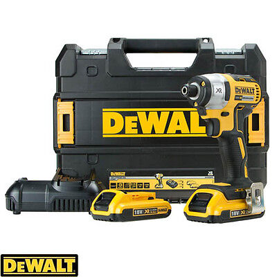 DeWalt DCF886D2 18V XR Brushless Impact Driver With 2 x DCB183, Charger & Case