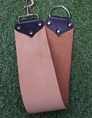 Premium Quality Leather Strop by Windrose Extra Wide Straight Razor Sharpening