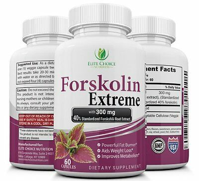 Forskolin Extreme - Max Strength 40% Standardized Pure Extract - 300mg