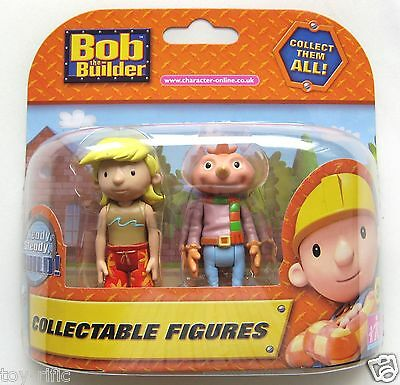 Bob The Builder - 2 Figure Collectable Pack - Brad Radical & Spud - New!