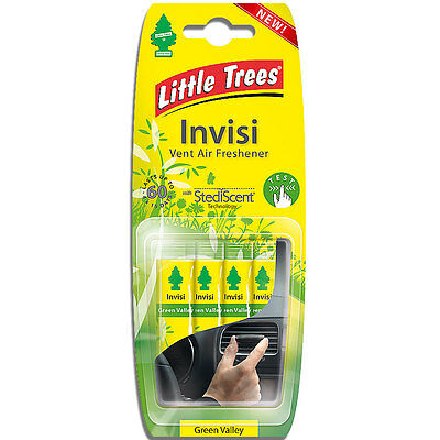 "Magic Tree ""little Tree"" Invisi Vent Air Freshener Clips Green Valley Fragrance"
