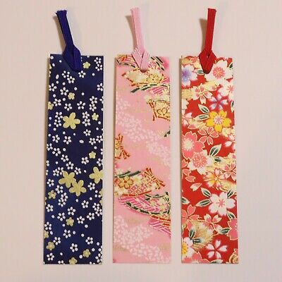 F/S Handicraft Japanese Paper Bookmark Yuzen Dyeing Pattern Japan Kyukyodo C