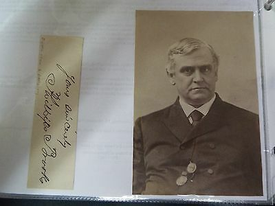 Phillips Brooks 19th Century Cut Signature and Unsigned Photo