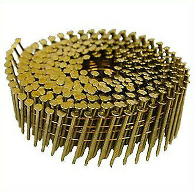 2.5 X 50MM Coil Nails Flat Galvenised Ring Box of 9,000 16 Degree Diamond Point