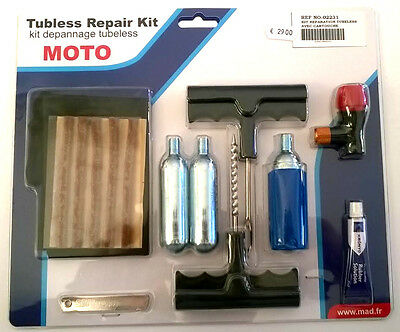 Kit reparation pneu Tubeless MAD avec cartouches CO²
