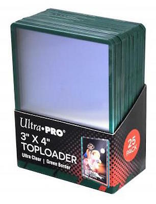 25 Ultra Pro Green Border Toploader - Trading Card Pokemon/MTG Hard Toploaders
