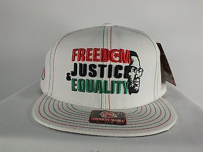 Malcom X (Freedom Justice & Equality) Fitted Cap Hat By American Needle (C75)