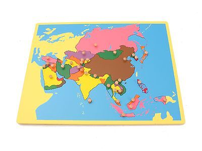 CLEARANCE Montessori Geography - Small Board Puzzle Map of Asia