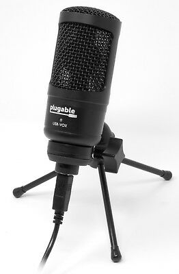 Plugable USB Condenser Microphone studio set for recording music with desk stand