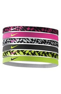 Sale New Nike Printed Headbands assorted Tennis, Casual, Fitness, Running 6 pcs