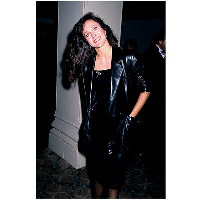 Erin Gray Standing with Big Smile at Event Wearing Black 8 x 10 Inch Photo