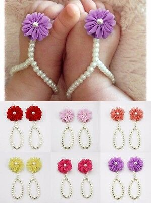 Summer Baby Shoes Pearl Flower Pram Shoes Sandals