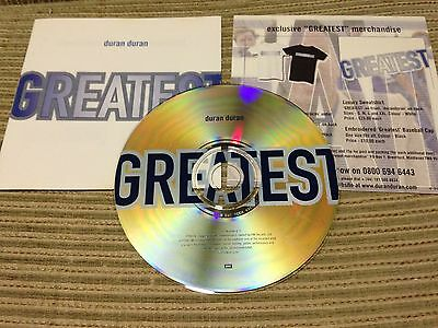 Duran Duran - Greatest Cd Compilation Emi 98 Eu + Merchandise Insert