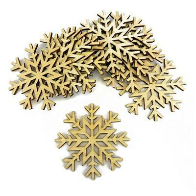 Buddly Crafts Bare Wood Christmas Tags Shapes - 10pcs Snowflake #8 70mm x 70mm
