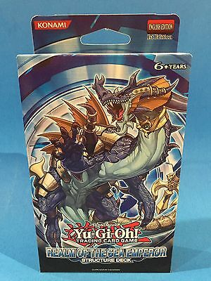 REALM OF THE SEA EMPEROR - Structure Deck - 1st (SDRE) - Sealed & New - Yu-Gi-Oh