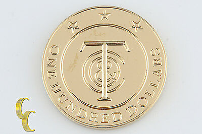 "Tiffany & Co. Sterling Silver Vermeil ""Tiffany Money"" Gift Token $100 Retired"