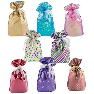 GiftMate Drawstring Gift Bags, perfect simple wrapping every time Pack of 6.