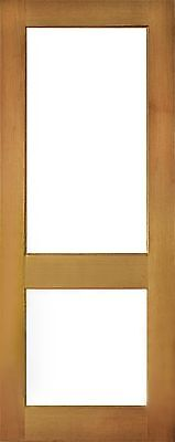 2 Lite Clear Toughen Glass SOLID Mahogany Timber Door MANY SIZES + CUSTOM MADE