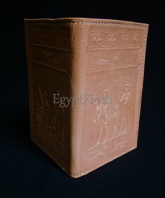 Egyptian Fine Genuine Leather Handmade Pharaohs And Hieroglyphics Wallet