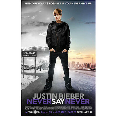 "Justin Bieber Never Say Never ""Find Out What's..."" 8 x 10 Inch Photo"