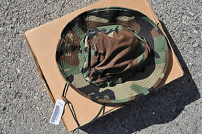 Military Boonie Hat Woodland Camouflage Ripstop GI Issue Sz 6-7/8 US Made New