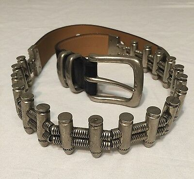 GENUINE LEATHER BULLET BELT  Size Medium Or 32