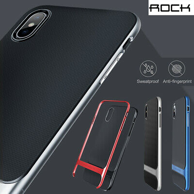 Slim Fit Shockproof Hybrid Stand Hard Bumper Soft Case For iPhone X 6s 7 8 Plus