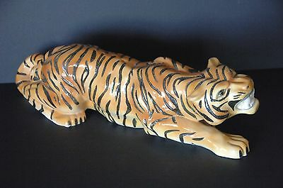 Old Porcelain Chinese Tiger …beautiful accent piece