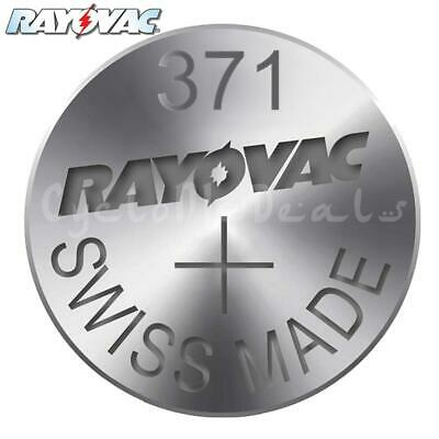 RAYOVAC 371 SR920SW Lithium Battery Swiss Watch Silver Oxide Cell 1.55V X 1,5,10