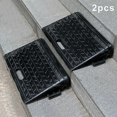 Kerb Ramps Rubber for Cars Caravans Wheelchair Mobility Disabled Access 2 x Pack