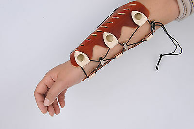 Handmade Cow Leather Arm Guard for Outdoor Hunting Shooting Arm Protection