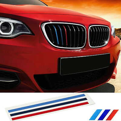 Grill M Sports Tech 3 Color Stripes Sticker Vinyl Decal Badge Emblems All Series