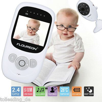 LCD Digital Video Baby Monitor Wireless Audio Talk Safety Night Vision Viewer