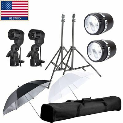 2 x72W Godox SY8000 110V 5500K AC Slave Flash Bulb Lamp Kit For Studio Light