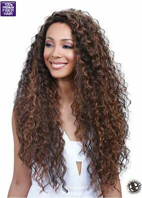 Anais | Curly Long  Wig | Black/brown/highlights | Bobbi Boss
