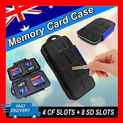 SD SDHC CF Memory Card Case Holder Hard Storage Wallet Anti-shock Waterproof