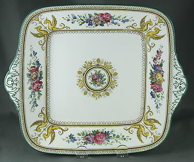 Wedgwood Square Handled Cake Plate Columbia White Pattern W595