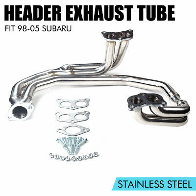 Stainless Steel Header Exhaust 98 98 For Subaru Legacy/impreza Wrx Rs 2.5L 98-05