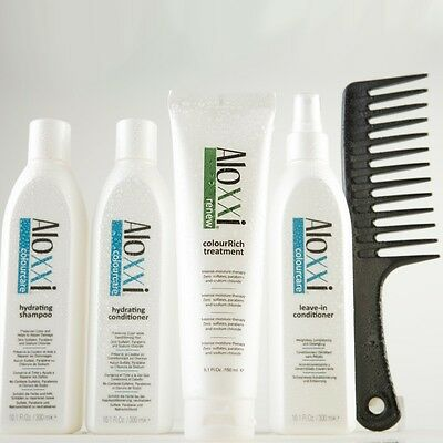Aloxxi Stylist Kit-Hydrating Shampoo/Conditioner, Leave-in Conditioner, Masque