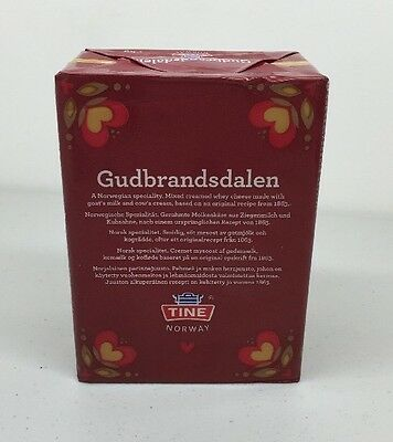 Cheese Gjetost 1kg Brunost Brown Caramel Whey Cheese Form Norway Goats Milk