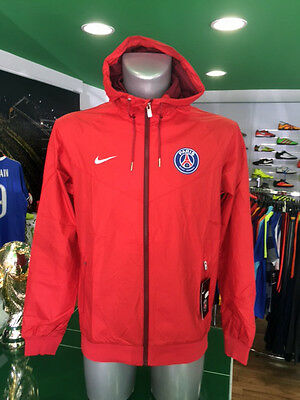 Giacca Vento Calcio Jacket Authentic Windrunner Nike Psg Paris Rosso 2016/2017