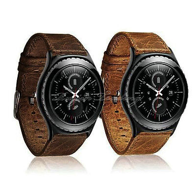 Genuine Leather Smart Watch Band Wrist Strap Bracelet for Samsung Gear S2 S3