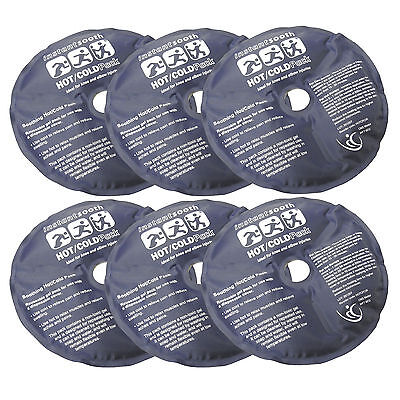 CMS Medical Reusable First Aid Soothing Pain Relief Circular Hot Cold Packs x 6